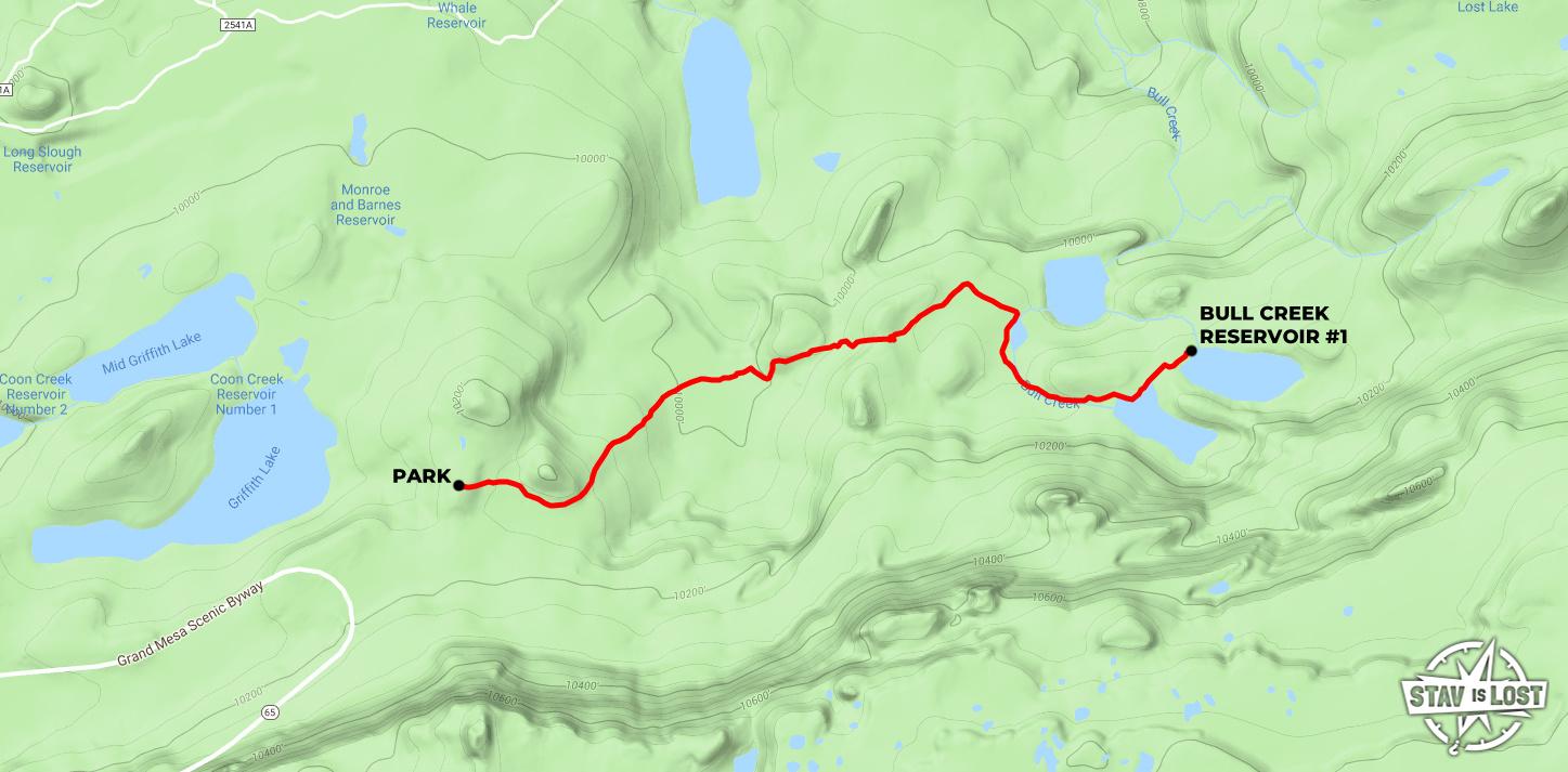 Hiking Bull Creek Reservoirs Via Lake Of The Woods Trail