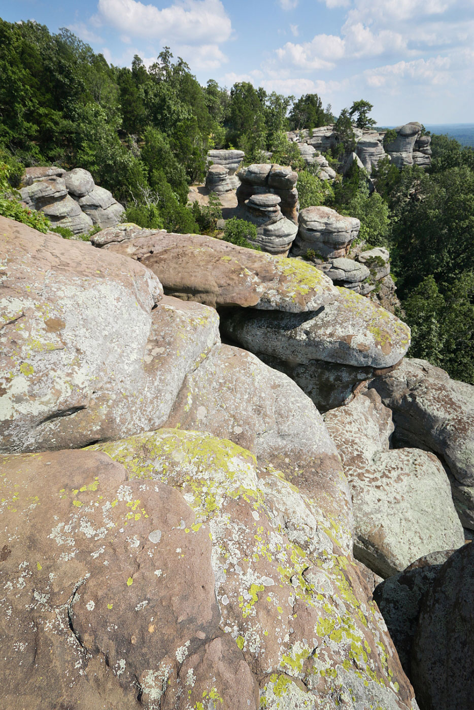 Hiking Garden Of The Gods And Indian Point In Shawnee National Forest Illinois