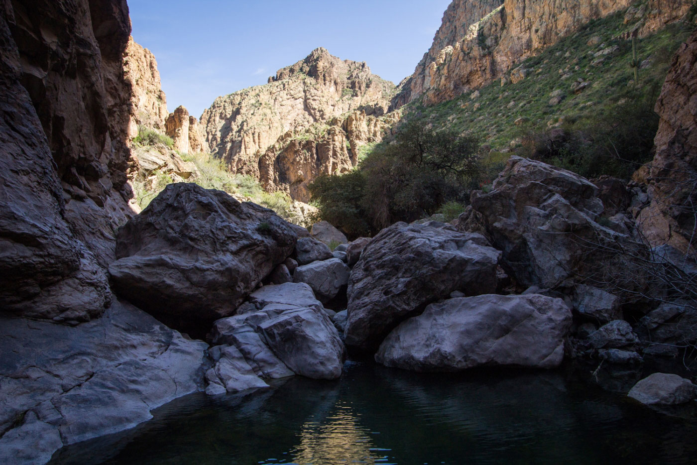 Hiking Peter S Canyon To Cave In Tonto National Forest